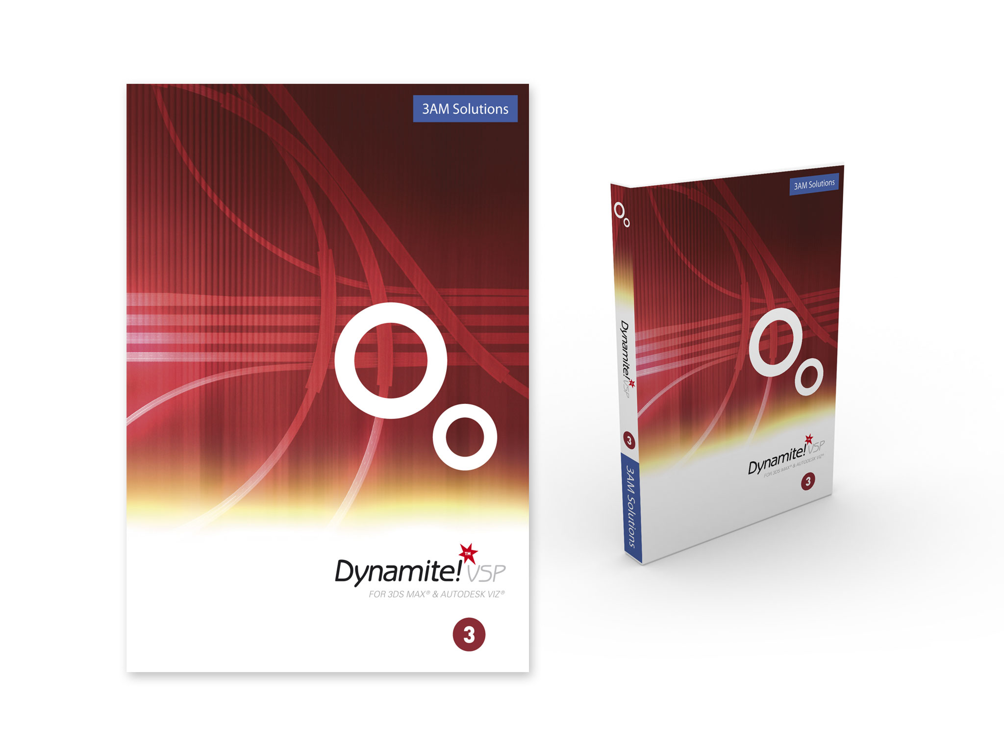 Product shot of DVD packaging for Dynamite VSP software